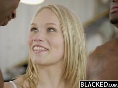 BLACKED Beautiful Blonde Dakota James Screams With 2 Big Black Cocks