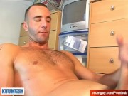 Handsome French swimmer gets wanked his big cock by us!