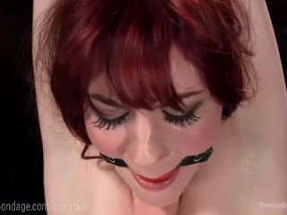 Hot Redhead In Cold Metal Bondage