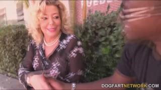 Karen Summer in her first ever interracial porn video
