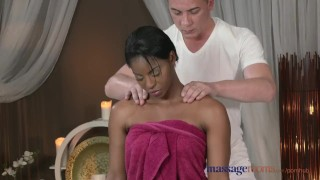 Massage Rooms Dark skinned goddess squirts from hardcore fucking Ebony stripper