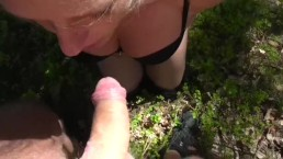 OUTDOOR BJ IN THE WOODS ;) gagging