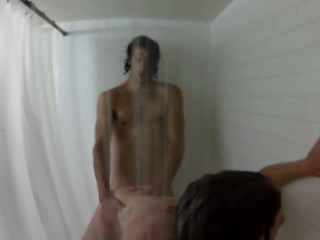 Anal in a Real Shower!