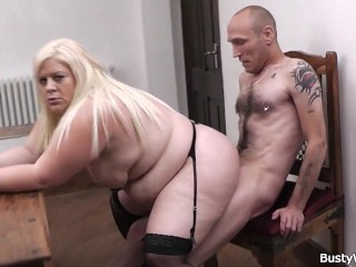 Rothlessburger Sex Case Plump Blonde In Stockings Rides Her Boss, Bbw Big Tits