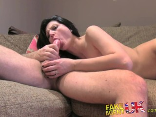 FakeAgentUK Sexy amateur gets anal action in porn casting