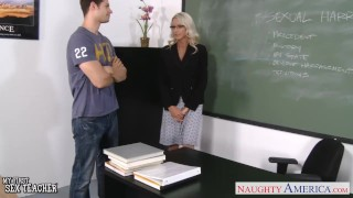 Preview 1 of Sex teacher Emma Starr take cock in classroom