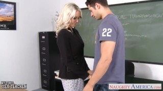 Preview 3 of Sex teacher Emma Starr take cock in classroom