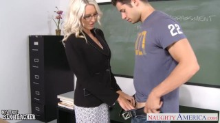 Preview 4 of Sex teacher Emma Starr take cock in classroom