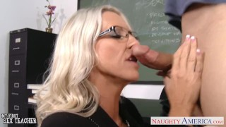 Preview 5 of Sex teacher Emma Starr take cock in classroom