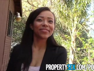 PropertySex - Rookie real estate agent fucks at open house homemade sex