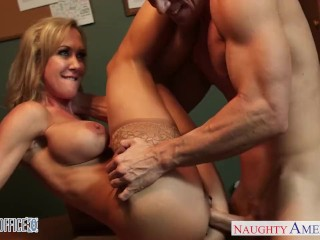 Hot Mil Mom Stockinged office babe Brandi Love gets nailed