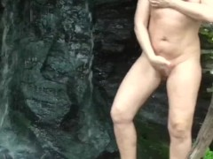 WATERFALL MASTURBATION I LOVE OUTDOOR SEX