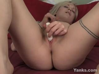 Blonde Shae Toying Her Pink Quim