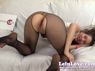 Lelu Love-Crotchless Pantyhose Virtual Missionary Sex