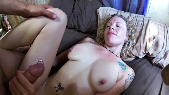 Swollen thumb remedy - Freshly pierced, swollen clit gets fucked