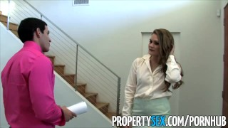 PropertySex Naughty real estate agent Abby Cross fucks her client