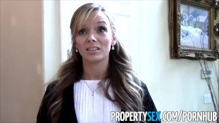 PropertySex Sexy petite realtor fucks pervert pretending to buy house