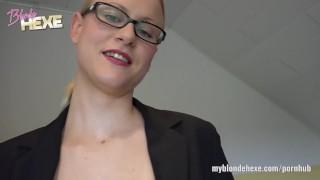 BlondeHexe - Die geile Hex mit Lust auf Sex german toys blondehexe echt handjob amateur blonde blowjob glasses pov deutsch ass fuck cuckold hexe adult toys blondine