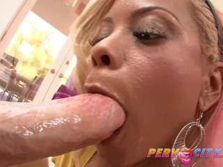 PervCity Interracial Deepthroat Blowjob