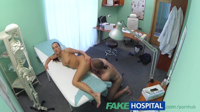 Sexual relationship with a patient Fakehospital hot brunette nurse gives patient some sexual healing