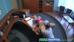 FakeHospital Doctor empties his sack to ease sexy patients back pain