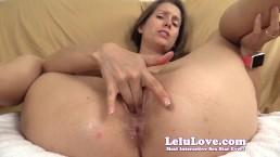 Lelu Love-Super Wet Pussy Closeup Fingering JOE