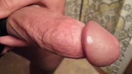 Stroking Thick Cock And Cums In Sink
