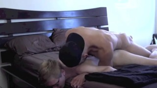 A guy fucked young by nerd muscular glasses kissing