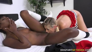 Ana Foxxx And Scarlet Red Having An Interracial Lickfest