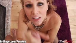EvilAngel Horny MILF Julia Ann POV Cock Sucking