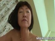 Yukiko Ishii - Mature JAV Hairy Pussy Explored By A Teen Cock