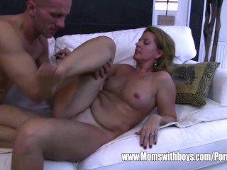 Jerk Off Amateur Milf Stepson Caught Masturbating By His Blonde Horny Stepmom