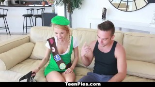 TeenPies - Petite Girlscout Gets A Creampie Surprise Creampie old