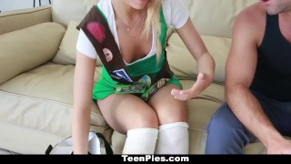 TeenPies - Petite Girlscout Gets A Creampie Surprise Made 3some