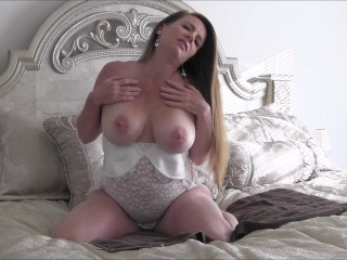 Abby fucks herself on her bed