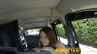 Preview 2 of FakeTaxi Redhead gets dirty with future sugar daddy