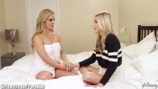 Girlsway Daughter Tries Anal with Stepmom Cherie Deville