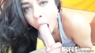 Mofos Sexy Latina babe gets fucked in a tent