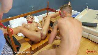 Big ass milf Deanna Dare gets rough anal and is suspended with chair in ass