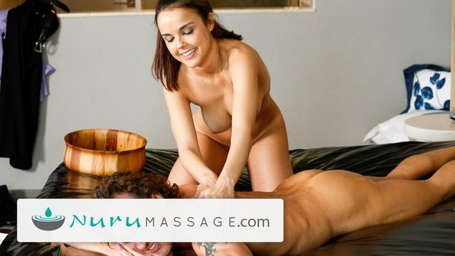 NuruMassage Dillion Harper gets Step-Dad to Fuck Her