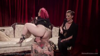 BBW Femdom April Flores Is A Goddess  strap on dominatrix slave tease bdsm bbw punish redhead femdom goddess chubby divinebitches kink pussy humiliate bondage