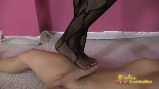 Arab Amira foot fetish video of a footjob  kink smothering ballbusting female domination bdsm face sitting cuckold facesitting femdom fetish hungarian cfnm