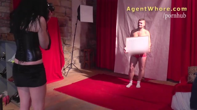 Stripper backstage blowjob