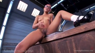 Skin Diamond Squirts On Dildo Machines  strip tease fuck machine masturbation ebony dildo masturbate tattoo fetish toys piercing kink squirting pussy fuckingmachines bondage orgasm tattoos nerd moan
