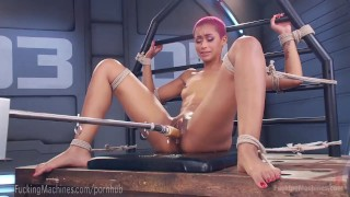 Skin Diamond Squirts On Dildo Machines  strip tease masturbation ebony dildo masturbate tattoo fetish toys piercing kink squirting pussy bondage orgasm tattoos fuck machine fuckingmachines nerd moan