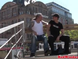 European bodysuit hooker getting facialized