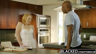 BLACKED Blonde Babysitter Trillium Fucks her Black Boss  doggy style big cock bbc riding black cock redhead first imterracial black blowjob gag cumshot small tits big dick interracial cowgirl blacked facial