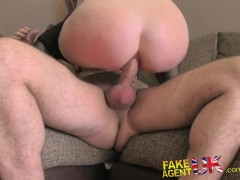 FakeAgentUK Gorgeous amateur blonde loses anal cherry on casting couch
