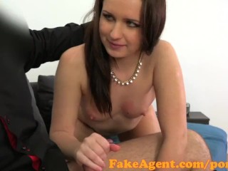 FakeAgent Sexy brunette student fucked hard in casting