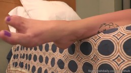 Stella Daniels Gives A Footjob And Has A Heavy Dose Of Black Cock